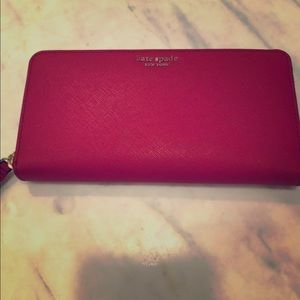 Kate Spade Cameron Wallet Crosshatched Leather